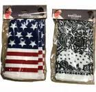 3-Pack Cotton Bandanas White Paisley & Patriotic. $8.99 Retail 60pcs. 180pk/case