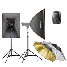 walimex pro VC Excellence Studioset Classic 6.4 600/400Ws inkl. Softbox/Schirme