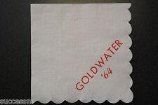 Barry Goldwater '64 Original Campaign Event Napkin Set Of 5