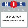 D8640EN00A Nissan Socket kit-tie rod, outer D8640EN00A, New Genuine OEM Part
