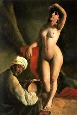 Oil painting karoly brocky - portrait of jaroslava, the artists daughter canvas