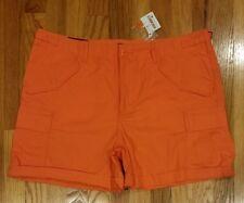 Polo Ralph Lauren Women's Poplin Cargo Buckled Shorts Size 6 Orange THESPOT917
