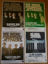 We Were Promised Jetpacks - Scottish tour Glasgow concert gig posters x 4