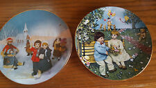"Arabelle & Friends Plates 1982 ""ICE DELIGHT"" & 1983 ""FIRST LOVE""  by RECO INT"