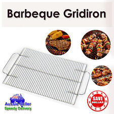 BBQ Barbeque Stainless Steel Charcoal Grill Plate Camping 41x30cm Gridiron
