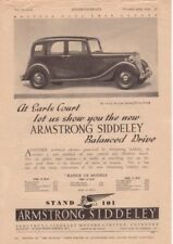 RF2032 1937 37 Armstrong Siddeley Vtg The AutoCar Magazine Ad