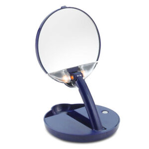 Makeup Mirror Floxite 15X Magnification Lighted Adjustable Compact Vanity Travel