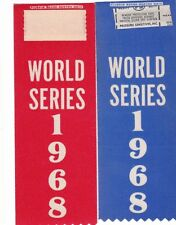 1968 ORIGINAL DETROIT TIGERS WORLD SERIES PIN BACK BUTTON RIBBONS UNUSED MT 2EA