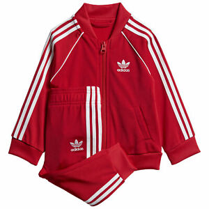 Adidas Originals Tuta da Bambini SST Rossa Taglia 12-18 M Cod GD2631 - 9B