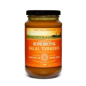 Halal Turmeric Bone Broth Concentrate - Instant Broth Beverage - 395 gram New