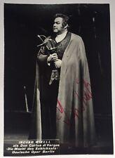 Ingvar Wixell signiert Oper Karte Original Unterschrift Autogramm Signatur