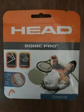 NEW Head Sonic Pro White 16 G Guage Tennis String 1,30mm/16g, 12m/40 ft Pack Set