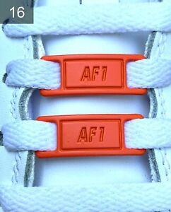 ❤️ Neue Nike Air Force 1 AF1 Schnallen Austauschbar Orange 2 Stück✅
