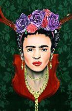 original Frida Kahlo art,lowbrow signed art print mondo eelus banksy dface kaws