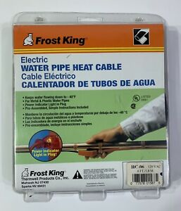 Frost King 6 ft. Electric Water Pipe Heat Cable (NEW)