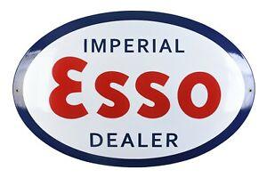 Schild Logo ESSO Emaille 50x75 cm - NEU - 10 Jahre Garantie Öl Firma