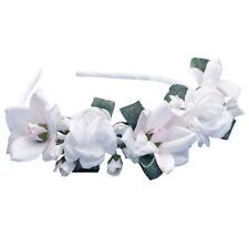 Mädchen Haarreifen Haarschmuck Kopfschmuck Kommunion Hochzeit Blumenmädchen rosa