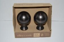 Alien + Roth Finials /Drapery Holdbacks FSI 1903 DORB Rubbed Oil Brown -New