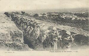 14-18 CPA Grande Guerre/ Infanterie Française dans les tranchées / 1915 / TBE