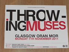 Throwing Muses - Glasgow nov.2011 tour concert gig poster