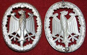 Bundeswehr Leistungsabzeichen in Silber, mit Herst. K+Q, an Nadel, Zust. I/II