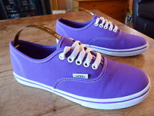 womens purple VANS trainers - size uk 3 great condition !