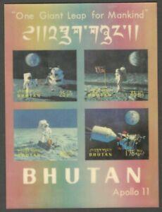 AOP Bhutan #108Gn 1969 APOLLO 11 MOON LANDING 3D MS MNH