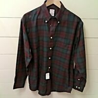 *BROOKS BROTHERS* Men's Shirt MADISON Long Sleeve Plaid Button Down Non-Iron