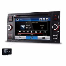 "Car Stereo DVD Player 2 DIN Radio 7"" Touch GPS Bluetooth in Dash for Ford Fusion"