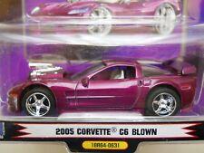 1 BADD RIDE - BLOWN - SUPERCHARGED 2005 CHEVROLET CORVETTE C6 - 1/64 DIECAST