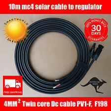 10m Solar Cable 4mm Twin Core DC MC4 male / female to join to your regulator.