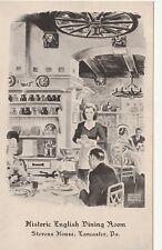 "*Pennsylvania Postcard-""Historic English Dining Room"" /Stevens House-Lancaster/"