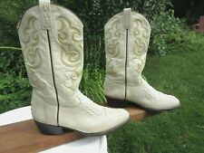 RUDEL Western Boots White Hornback Caiman Leather / Mexico / Size 12.5 EE / Used