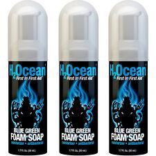 H2Ocean Blue Green Foam Soap, 1.7 Fluid Ounce Set of 3