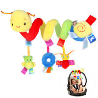 Baby Crib Hanging Rattles Kid Cot Pram Spiral Stroller Seat Toy W/ Ringing Bell