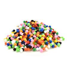 1000 Pcs DIY Mixed Color Mini Soft Fluffy Pom Poms Pompoms Ball 10mm BDAU