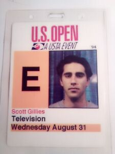 RARE 1994 US OPEN TENNIS MEDIA PASS VALID FOR WED. AUG. 31 WNBC TV USTA EVENT