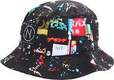 Neff Men's Black/Multi-Colored City Lights Bucket Hat Sz OS **