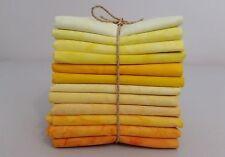 Batik Fat Quarters - 45 x 55 cm *** 12 Per Pack *** Free AU Post - Yellow/Orange