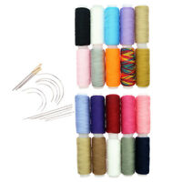34Pcs Polyester Sewing Thread Hand Sewing Needles Set for Darning Embroidery