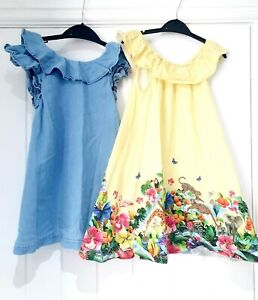 GIRLS 5-6 DRESS BUNDLE KATE MORGAN STUDIO & DENIM FRILL PINAFORE DRESS VGC