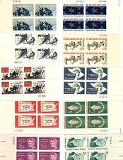 United States 10 diff MNH 5 cent plate blocks