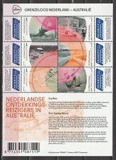 2016 3441-3446A-B-C Grenzeloos Nederland - Australië - complete set 3 vellen