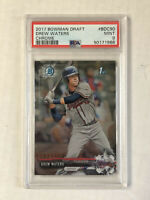 DREW WATERS 2017 Bowman Chrome 1ST BOWMAN RC! PSA MINT 9! #BDC-90! HUGE SALE!