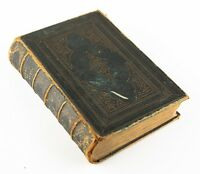 "Antique Leather-Bound ""Poetical Works of Lord Byron"" 1859 John Murray Edition"