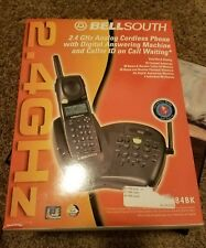 bell south 2.4ghz analog cordless phone. caller id answering machine gh9484bk