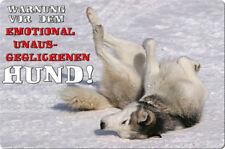 Siberian Sibirien HUSKY - A4 Metall Warnschild Hundeschild SCHILD - SBH 01 T28
