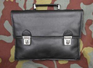 Handbag Document Holder German Bag leather Nera-Nva Documents Case Bag Black