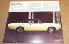 ★★1969 PLYMOUTH BARRACUDA ORIGINAL DEALER VINTAGE ADVERTISEMENT AD 69