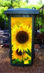 Sunflower wheelie bin sticker